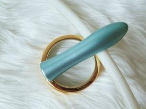 [Image: FemmeFunn Ultra Bullet aluminum vibrator in light blue]
