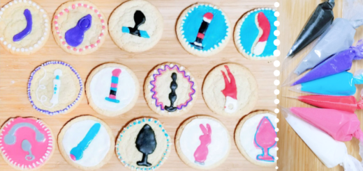Sex toy cookie decorating tutorial with easy icing recipe: a date night DIY 3