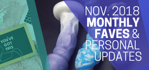 November Monthly Faves, announcements, and personal updates banner ft. a photo of my upcoming giveaway prizes from Uberrime