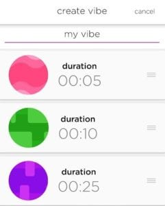 [Image: The We-Vibe We-Connect remote control app allows you to create custom vibration patterns]