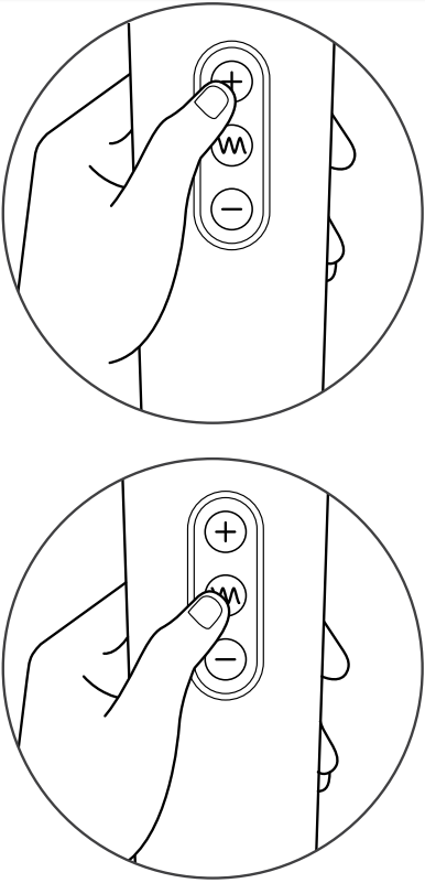 [Image: Le Wand Rechargeable buttons and control panel diagram from manual]
